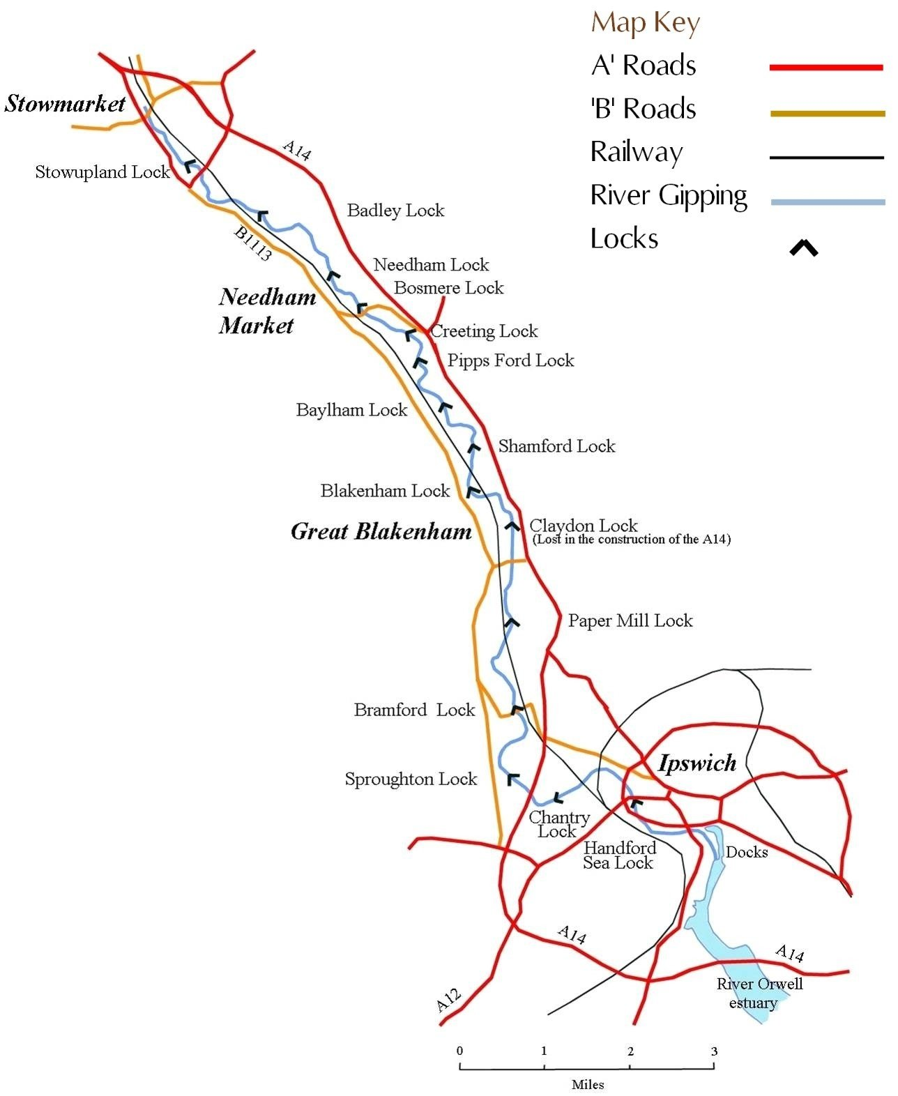 River Gipping Trust  - Gipping map