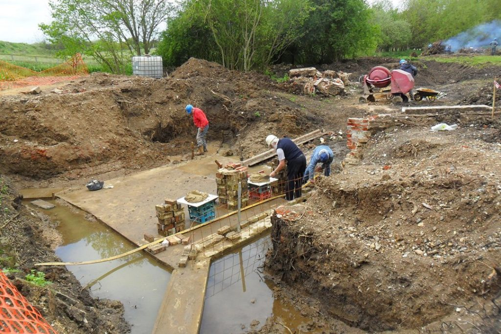 Installing new concrete base