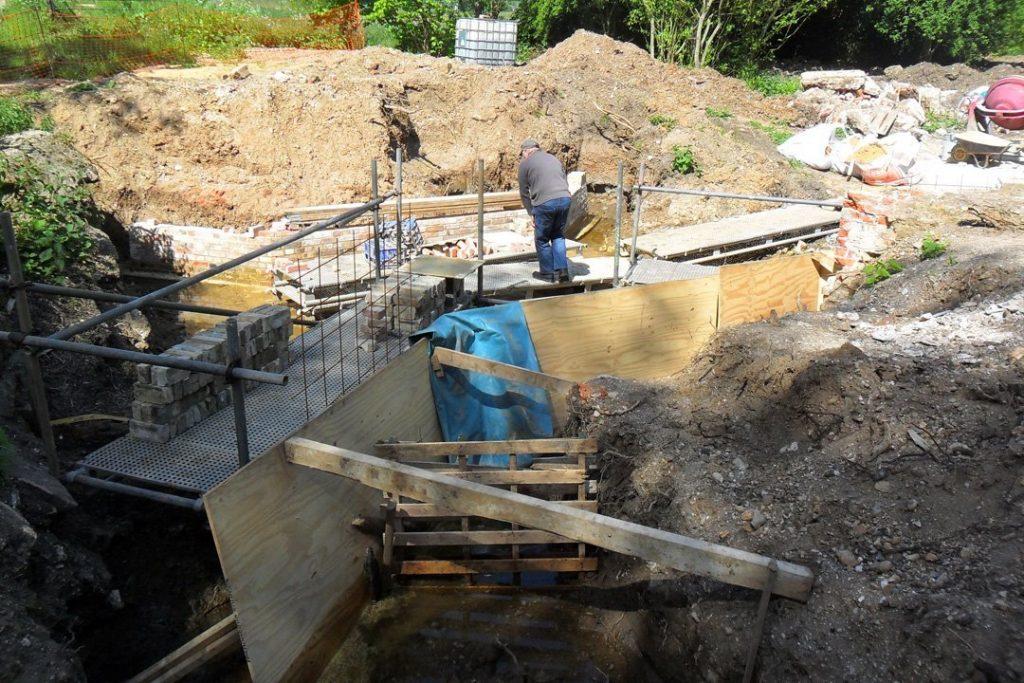 Preparing for concrete back-fill