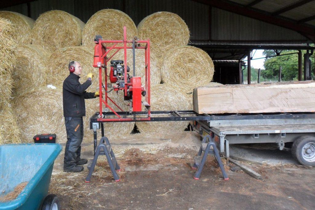 At Glemham preparing the timber (1)