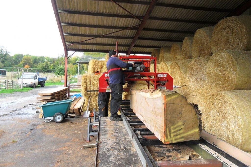 At Glemham preparing the timber (2)
