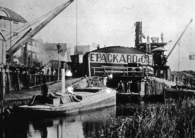 Packards loading wharf