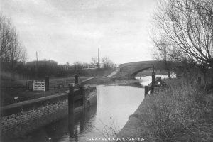051 Claydon Lock & Bridge about 1890