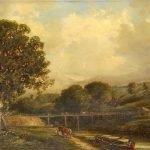 "092 ""Bridge West of Stoke Bridge"" Robert Burrows 1847"