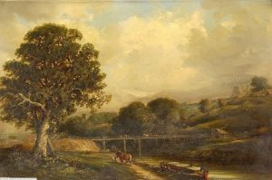 "092 ""Bridge West of Stoke Bridge"" Robert Burrows 1847"