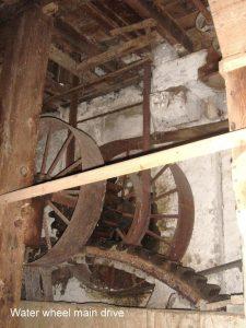 Water wheel main drive