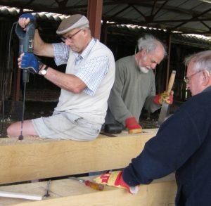 Ray, Martin and Don hard at work.