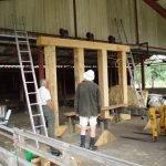 Top beam installed