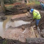 February 2015 Uncovering the old weir
