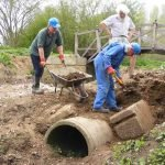 April 2015 Uncovering the original Pipps Ford bywash pipes