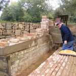 October 2016 Restoring the weir at Pipps Ford