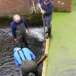 October 2016 New stop planks at Bosmere Lock