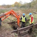 November 2018 Installing the bridge for the re-routed footpath