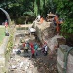 July 2009 Baylham Lock preparing the invert for concrete