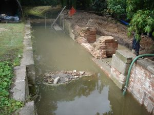 July 2009 Baylham Lock- Flooded out!