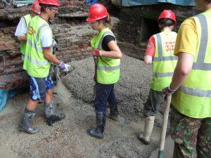 August 2009 Baylham Lock concrete pour
