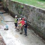August 2009 Baylham Lock invert complete