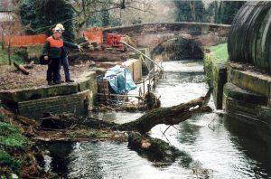January 2010 Tirfor removing fallen tree