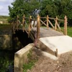May 2014 Pipps Ford Mathematical Bridge installed