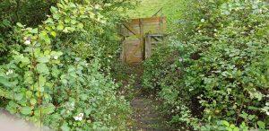 October 2020 The original footpath fenced off