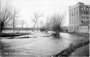 Floods near Turners Tannery Bramford Road 1936